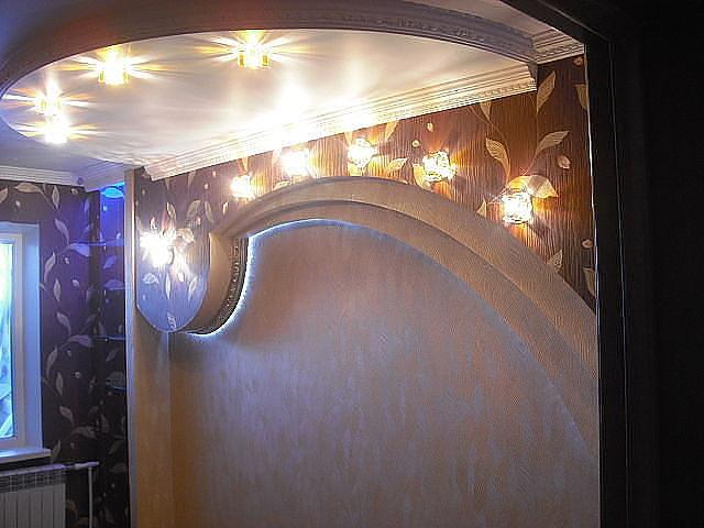 Дизайн стен из гипсокартона.фото